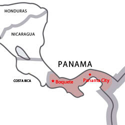 Map of destinations for Spanish courses in Panama